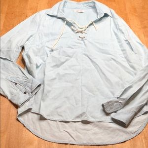 Cape juby chambray top sz L